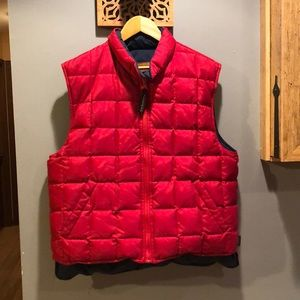 Down reversible vest
